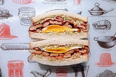 日式雞胸肉蛋三明治