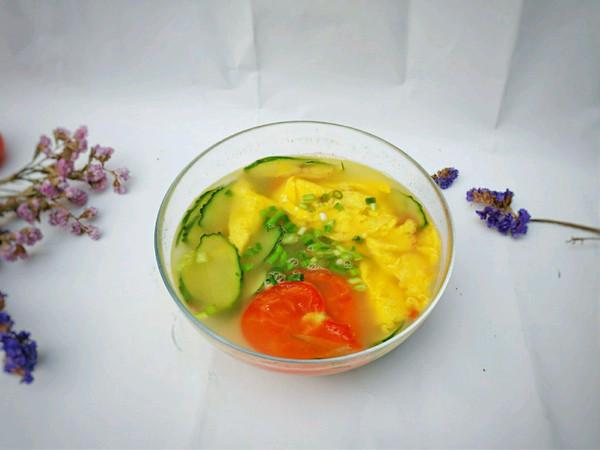 番茄黄瓜鸡蛋汤的做法