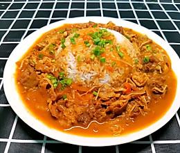 金针菇咖喱肥牛饭的做法