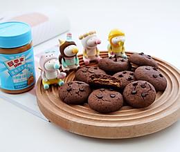 #四季宝蓝小罐#比趣多多还好吃的巧克力花生酱夹心曲奇的做法
