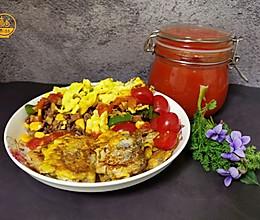 减脂餐:缤纷彩蔬蛋炒饭#餐桌上的春日限定#的做法