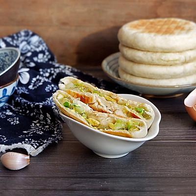 圆白菜素馅饼(发面)