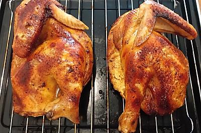 烤箱版五香蜜汁烤三黄鸡