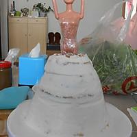 芭比娃娃蛋糕的做法图解3