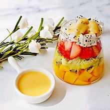 百香果酸奶水果沙拉#做道好菜,自我宠爱!#