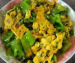 薄荷叶青椒炒鸡蛋的做法