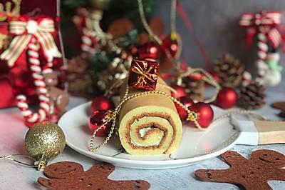#令人羡慕的圣诞大餐#海盐芝士蛋糕卷