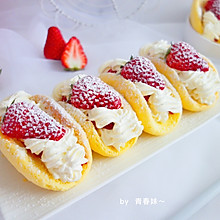 #美味烤箱菜,就等你来做!#草莓抱抱卷