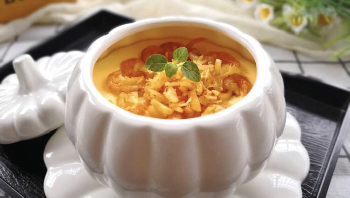 瑶柱虾米蒸水蛋