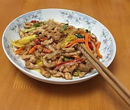 酸萝卜炒肉的做法