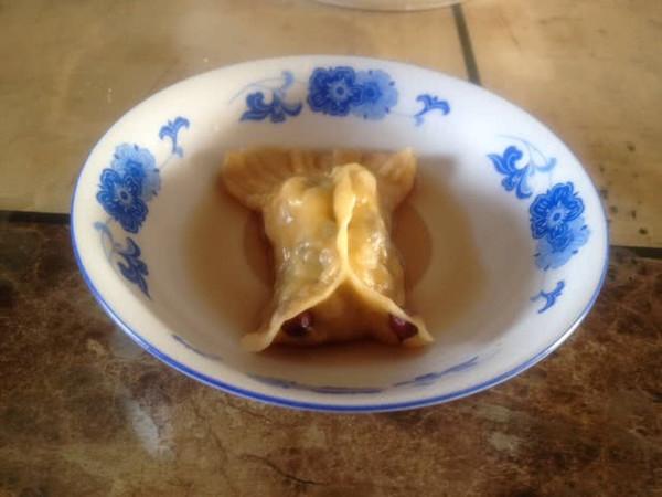 大喜大牛肉粉试用之---年年有余(三鲜蒸饺)的做法