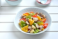 彩椒炒口蘑#520,美食撩动TA的心#的做法