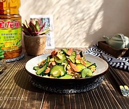 快手家常菜-黄瓜炒蛋#金龙鱼营养强化维生素A  新派菜油#的做法