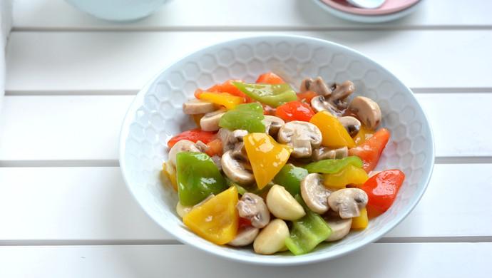 彩椒炒口蘑#520,美食撩动TA的心#