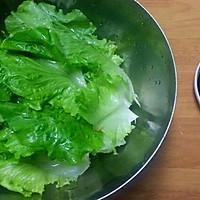 蒜蓉酱油白灼生菜的做法图解1