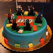 翻糖乐高小人蛋糕