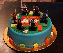 翻糖乐高小人蛋糕的做法