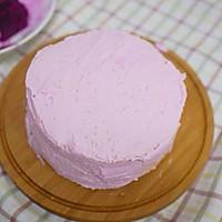 粉紫色的恋人--红心火龙果奶油蛋糕的做法图解7