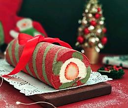 圣诞草莓蛋糕卷的做法