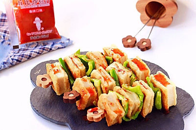 香辣千叶豆腐串|简单快手吃出烧烤新感觉#丘比沙拉汁#