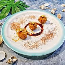 三文鱼虾仁酥炸丸子