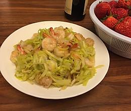 韭黄炒虾仁的做法
