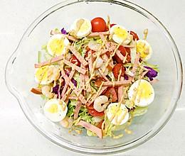 清凉系 | 「虾仁火腿蔬菜沙拉」的做法
