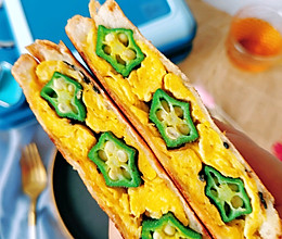 你的眼里有✨☞秋葵鸡蛋三明治的做法
