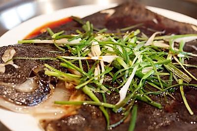 曼步厨房 - 清蒸多宝鱼