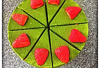 抹茶慕斯蛋糕(六寸)的做法