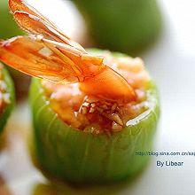 橄榄油丝瓜鲜虾盅