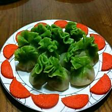 #寻找聪明的煮妇#~翡翠白菜蒸饺