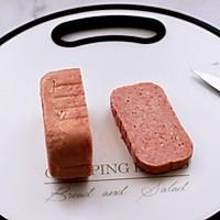 #秋天怎么吃#快手午餐肉黄瓜汉堡包的做法图解2