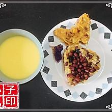 甜玉米浓汤&红豆蜜豆玉渣饼