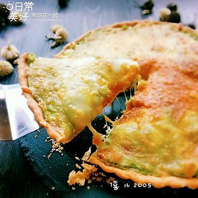 牛油果新吃法--牛油果土豆培根芝士派