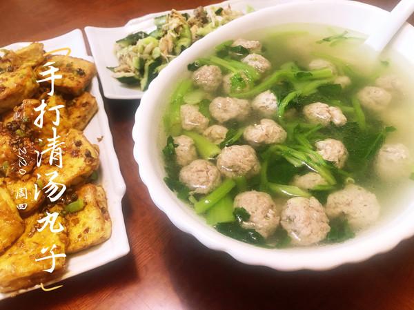手打清汆丸子汤,低脂硬菜,好吃又好喝的做法