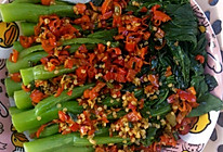 蒜蓉菜心,剁椒菜心的做法