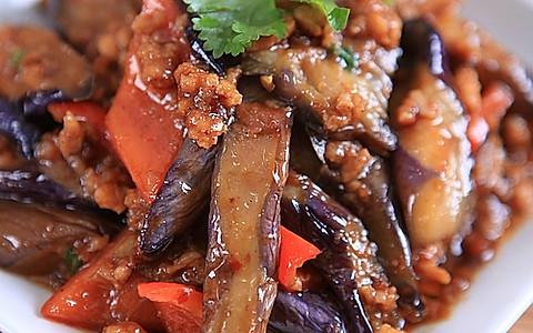 酱爆肉末茄子的做法