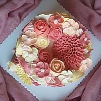 #九阳烘焙剧场#如何做一款好吃不油腻的韩式裱花蛋糕的做法图解7