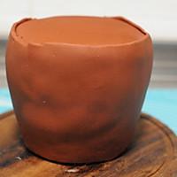 #马卡龙·奶油蛋糕看过来#暖色秋季—秋的收获—南瓜翻糖蛋糕的做法图解20