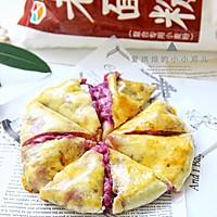 外脆内软爆浆紫薯芝士饼,超级拉丝还爆浆的做法图解13