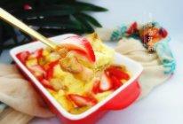草莓香蕉土司布丁的做法