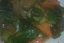 时蔬炒肝的做法