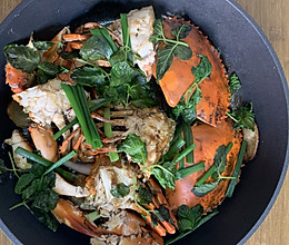 姜葱焗螃蟹的做法