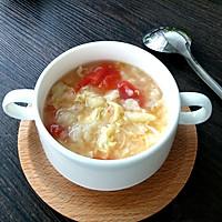 香滑番茄鸡蛋疙瘩汤#急速早餐#的做法图解6