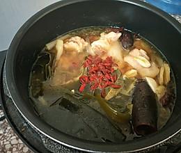 海带蹄花汤的做法