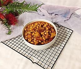 #父亲节,给老爸做道菜#大块肉烧黄豆的做法