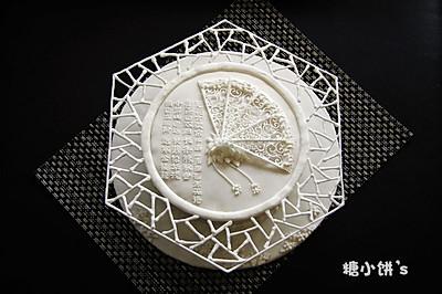 【印象。江南】我的第一只翻糖大蛋糕(糖霜装饰)