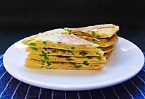 青椒鸡蛋煎饼—快手早餐的做法