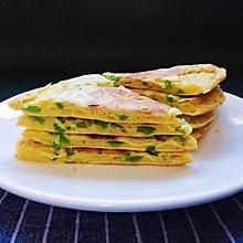 青椒鸡蛋煎饼—快手早餐